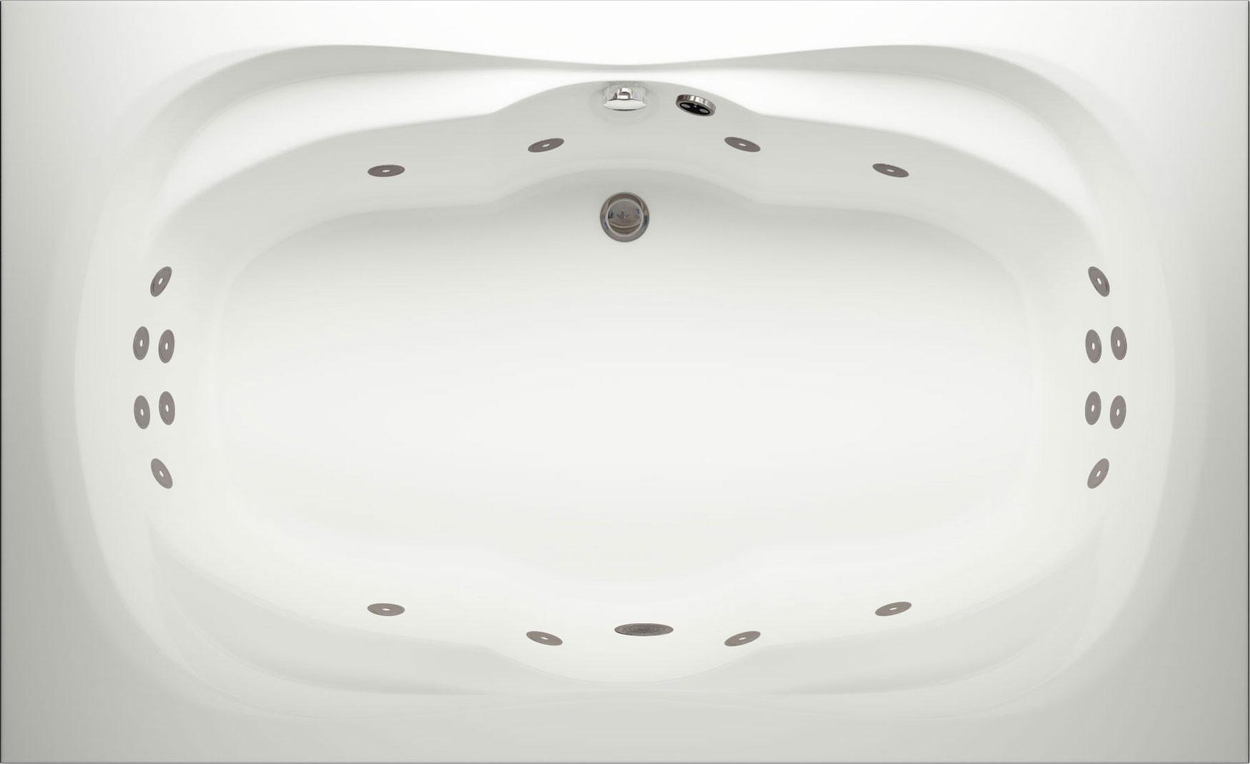 Ancona Super Lux Double Whirlpool Bath | Luna Spas
