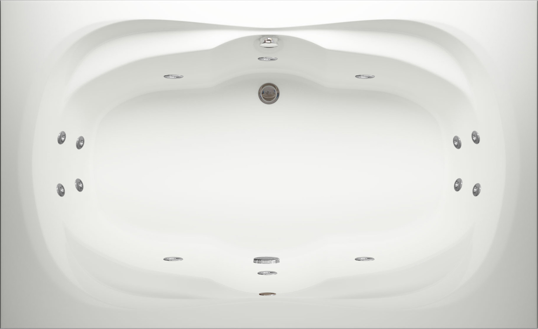 Ancona Quantum Double Ended Whirlpool Bath   Luna Spas