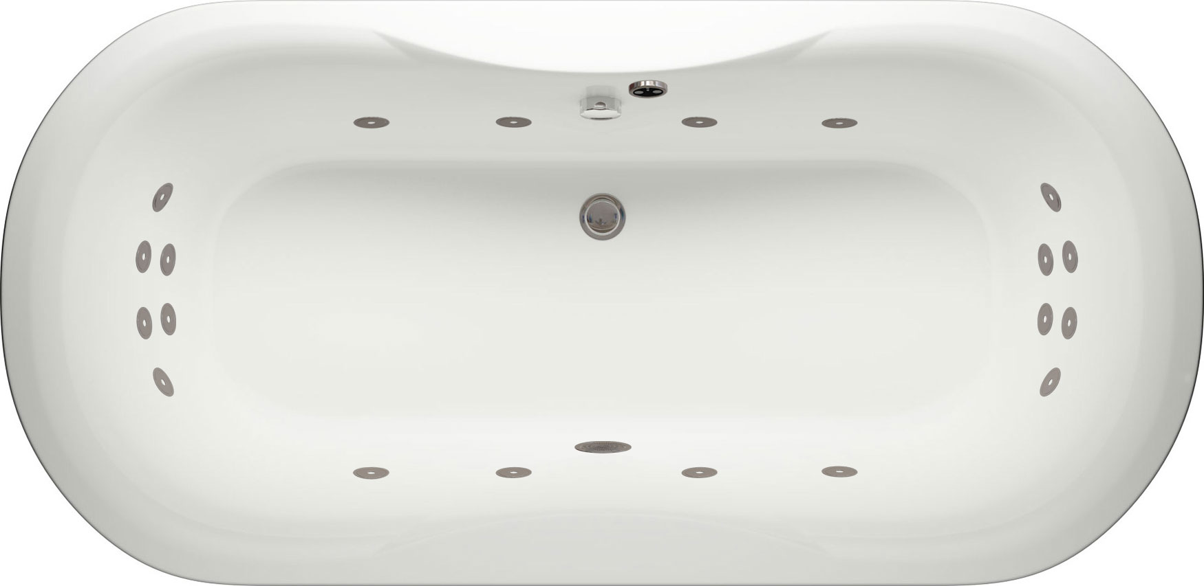 Milan Super Lux Whirlpool Bath with LED Lights | Luna Spas