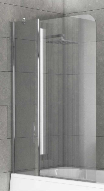 Radius Curved Edge Extended Shower Screen 920x1400mm
