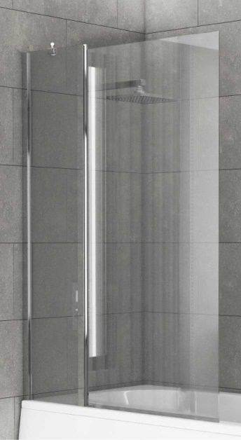 Square Edge Extended Shower Screen 920x1400mm