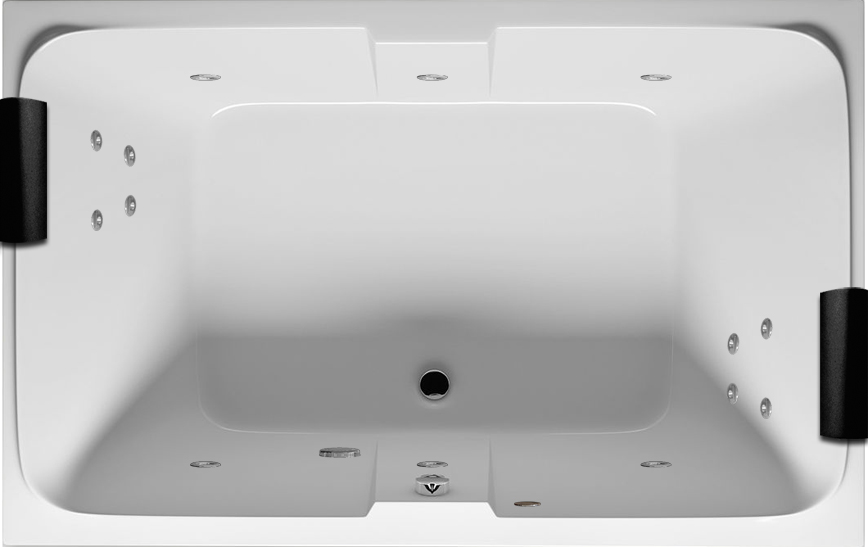 Riho, Grande, Quantum Double Ended Jacuzzi Whirlpool Bath