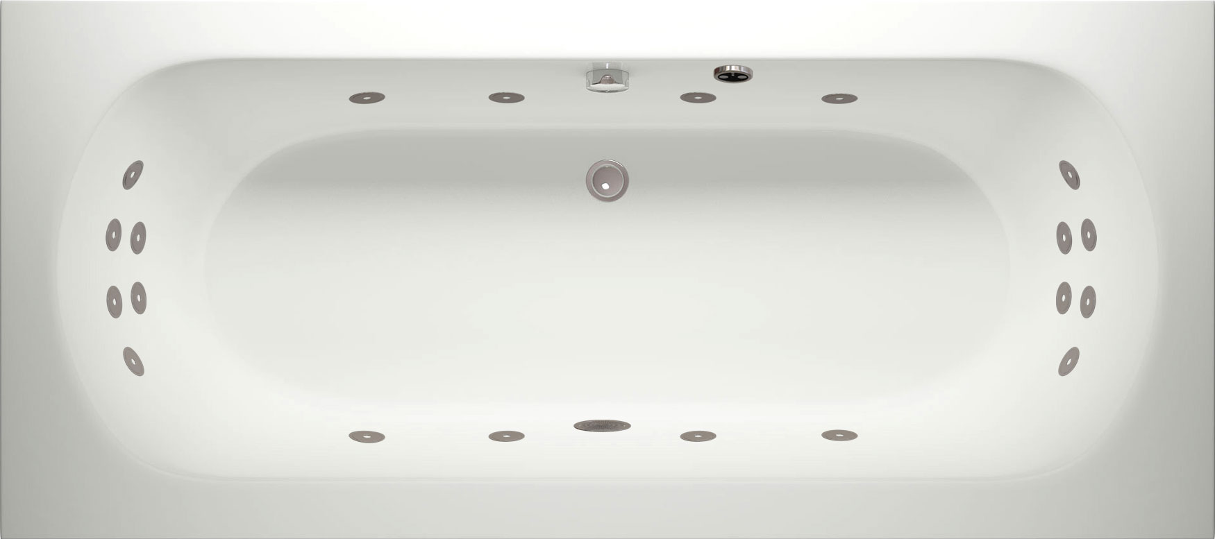 Tamar Super Lux Whirlpool Bath with LED Lights | Luna Spas