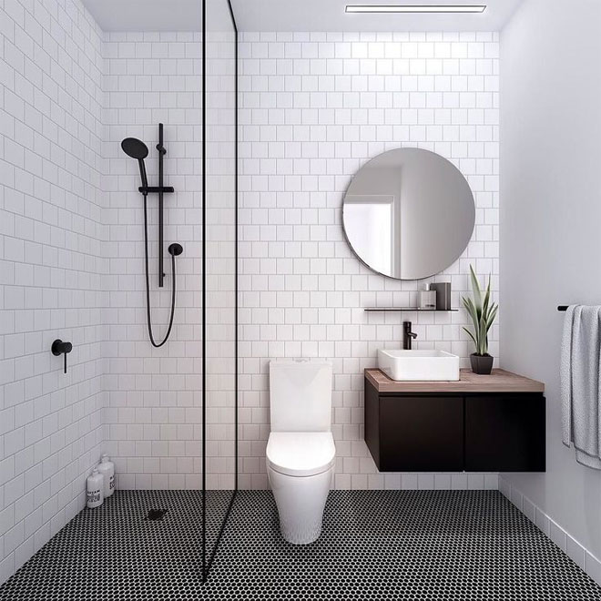 Luxury white tiled bathroom