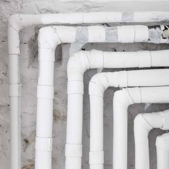 Central heating pipes