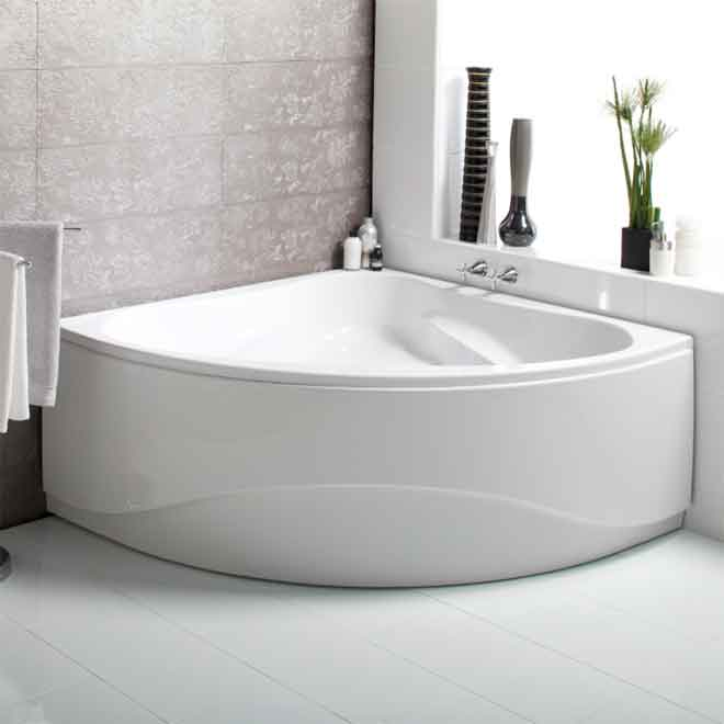 A corner bath by Luna Spas