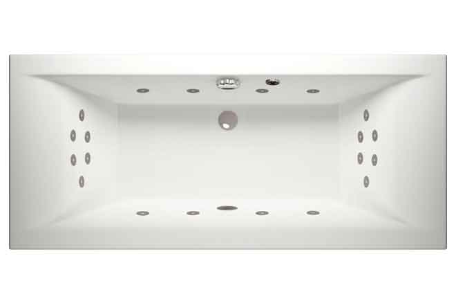 Luna Iris, Super Lux Double Ended Whirlpool Bath