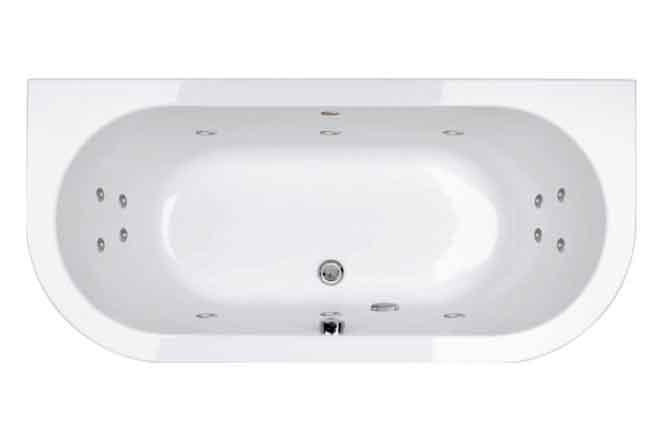Luna D Shape Whirlpool Bath