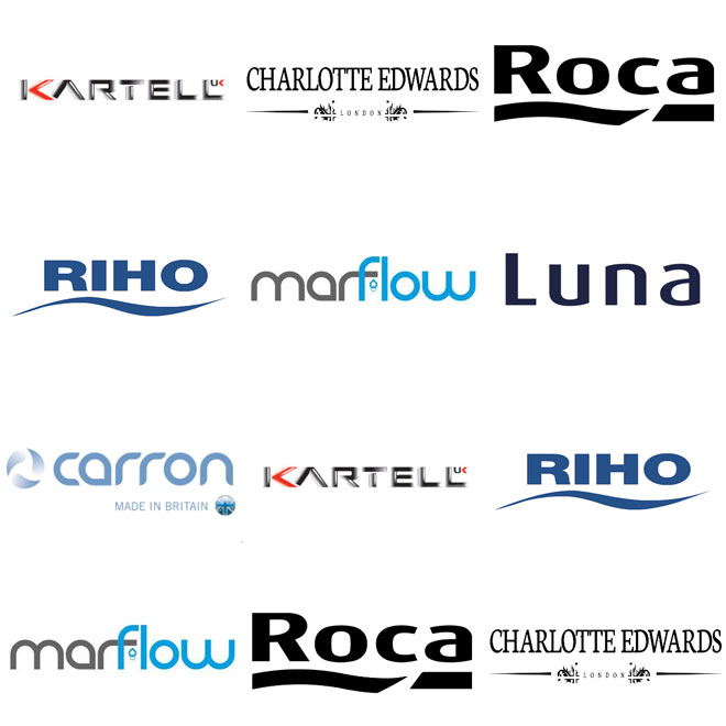Luxury Whirlpool Bath Brand Logos