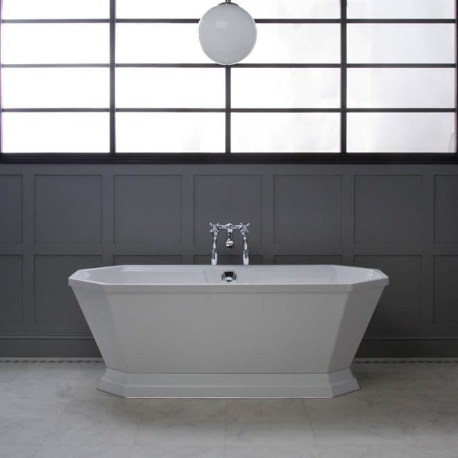 Luxury freestanding bath in a bathroom