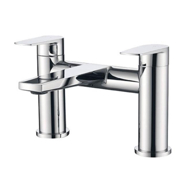 A chrome bath filler tap