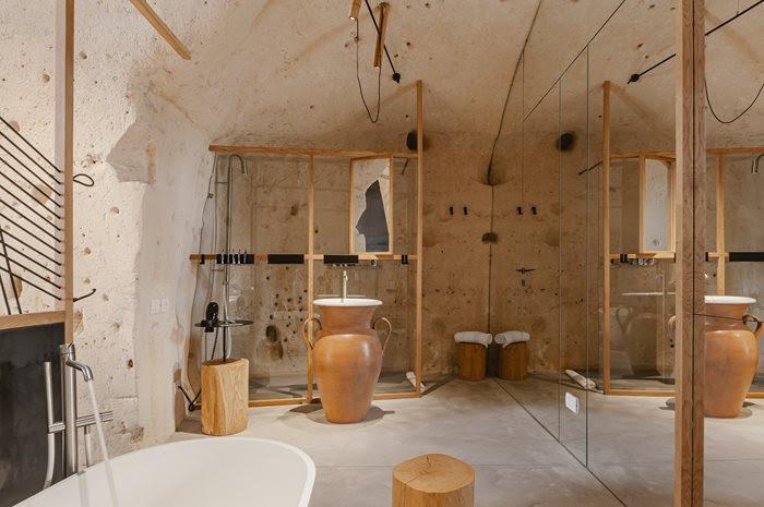Bathroom at Ai Maestri - Matera, Italy
