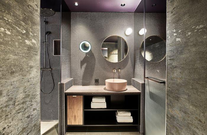 Bathroom at The Hide Hotel Flims - Flims, Switzerland.
