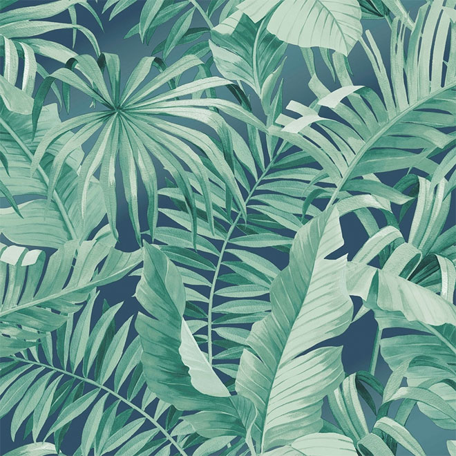 Rainforest bathroom wallpaper