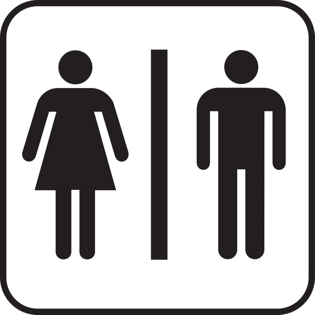 His and hers sign