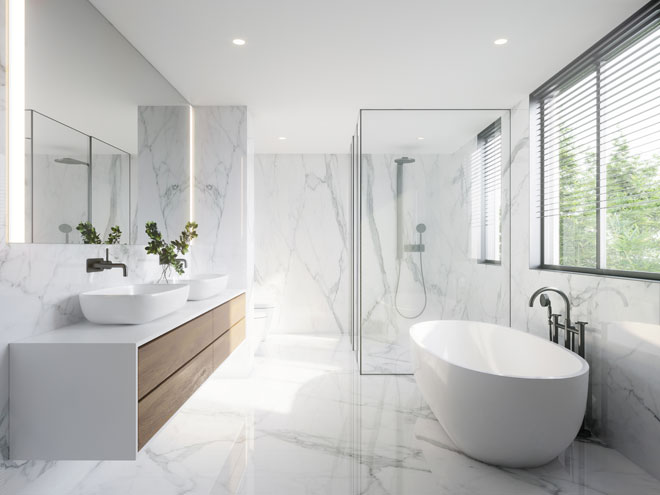 A white minimalist bathroom
